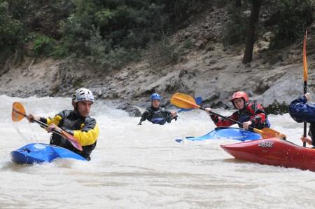 Javier and crew paddling Ahansel