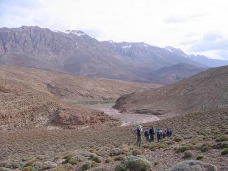 Trekking through the Atlas Mountains