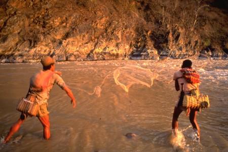 Local fishermen on the Karnali River is Western Nepal