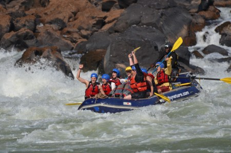 Dougie and the team after a successful run through Upper Moemba on the Zambezi