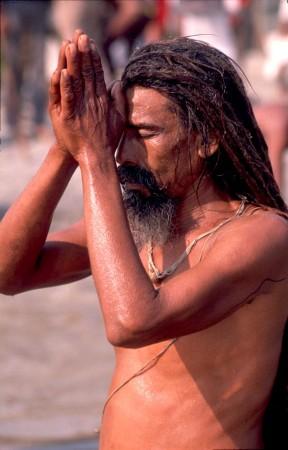 A Sadhu (holy Man) in the heart of Kathmandu