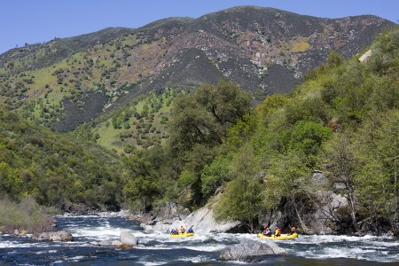 The wild Tuolumne River in California