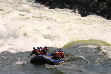 One of the world's most iconic rapids, Stairway to Heaven.