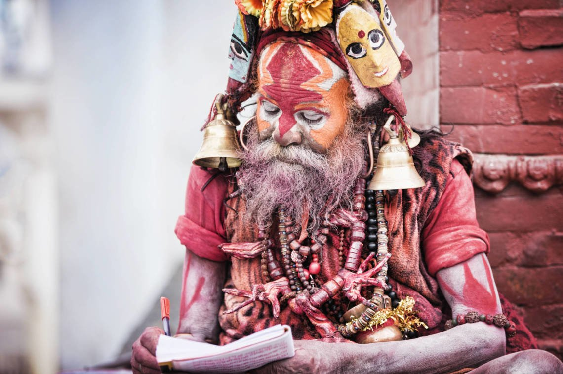 Image of Saddhu at Pashupatinath in Nepal