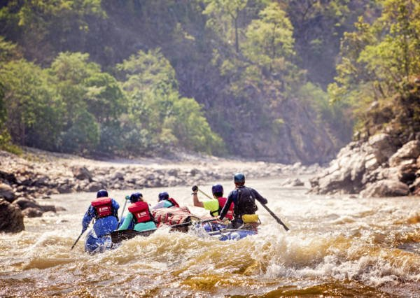 Image from the back of rafting the Karnali river