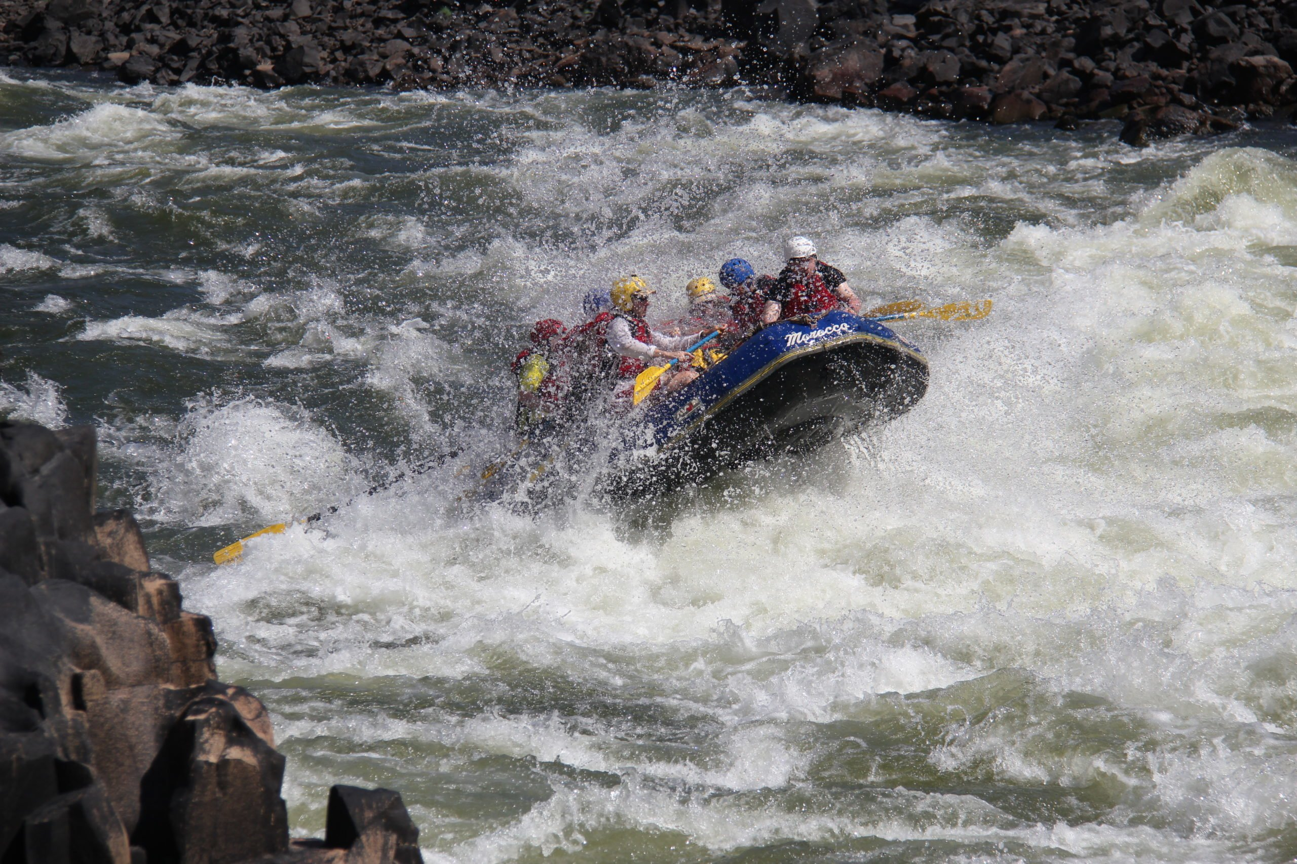 The world class rapids on the Zambezi